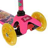 Самокат трехколесный Barbie Симбат, фото 6