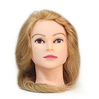 Болванка учебная для парикмахера ТМ-003 100% натур. волосы 60 см (светло-русый) №88112(2)