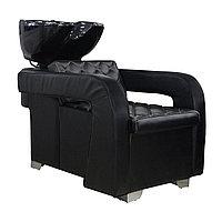 AS-6011 Мойка парикмахерская с креслом (черная)