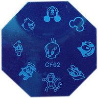 Трафарет для стемпинга QA металлический/восьмиугольный №71268(2)