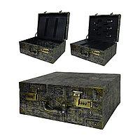 Чемодан/кейс для парикм. кожзам с двумя кодовыми замками 35 х 26 х 16 см в ассорт. №88754(2)