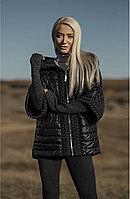 Куртка черная  женская короткая с капюшоном Marco Moretti Италия
