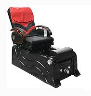 """F-9827 Кресло педикюрное с джакузи (черно-красное, """"гладкая кожа"""")"""