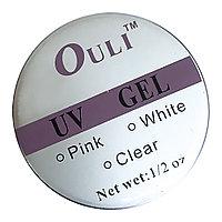 "UV Гель для наращивания ногтей 1/ 2 oz (white) ""Ouli"" №3414"