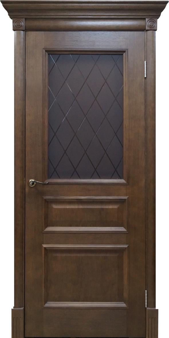 Межкомнатная шпонированная дверь Вильма дуб тон 44