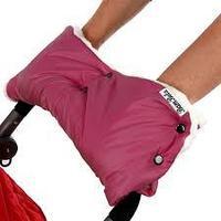 Муфта для рук на коляску (мех) (бордо)