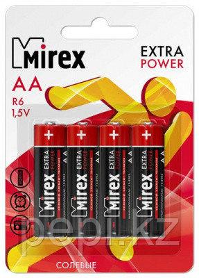 """Батарейка палец """"Mirex"""" R6 1.5V солевая"""