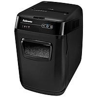Шредер Fellowes® AutoMax® 150C, автоподача, DIN P-4, 4х38мм, 150лст. авто, 8 ручн., 32 лтр., авторев