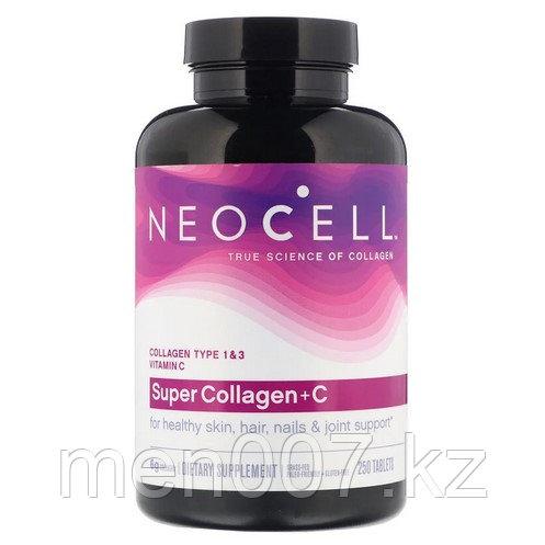БАД Супер коллаген + C, тип 1 и 3, 6000 мг (250 таблеток)