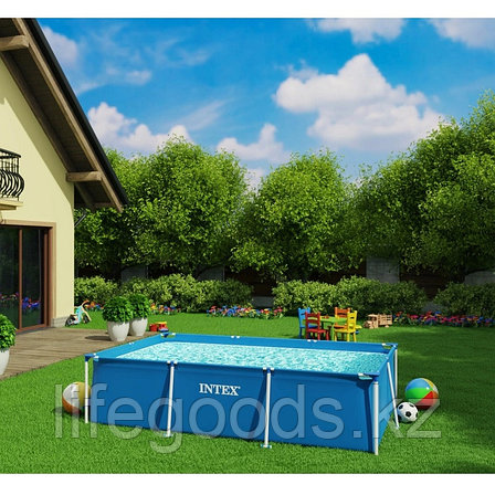 Каркасный бассейн для дачи прямоугольный 300х200х75 см, Intex 28272, фото 2