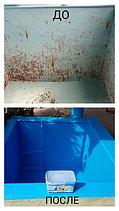 Бассейны покрашенные резиновой краской.