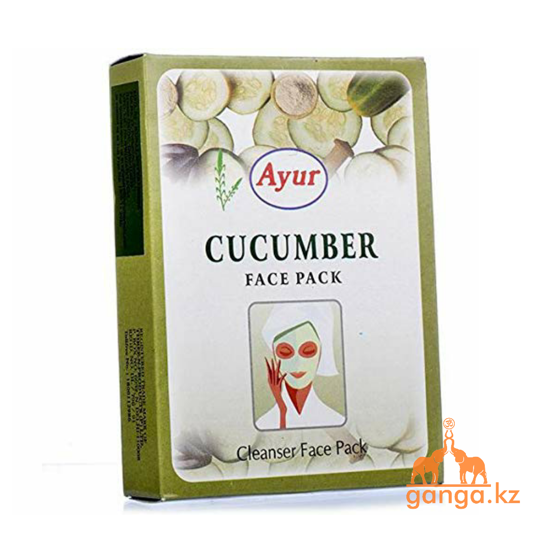 """Порошковая маска для лица """"Огуречная"""" (Cucumber Face Pack AYUR), 100 гр"""