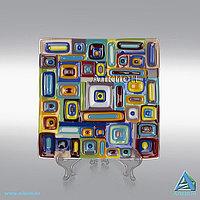 Стеклянная тарелка «Геометрия» (Сувенир), фото 1
