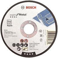 Диск (круг) отрезной по металлу Bosch 125 мм, Expert for Metal, Rapido, 125 х 1.0, 2608603396