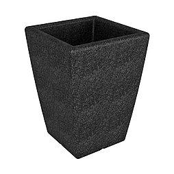 Кашпо Flox 68х50х50см черный гранит