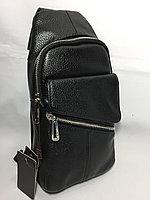 Мужская сумка-кобура через плечо.Высота 30 см, ширина 15 см, глубина 6 см., фото 1