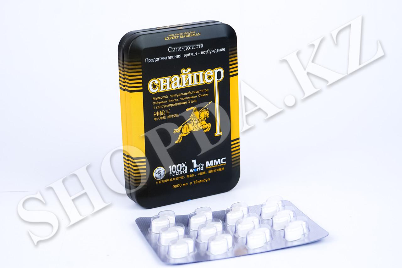 Снайпер виагра средство для повышения потенции, блистер 9800 мг*12 таблеток