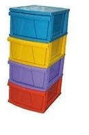 Детский пластиковый комод Патиссон Радуга 402-4