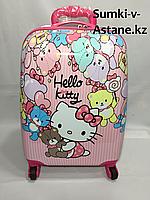 Детский чемодан на колесах для девочек с 3-х до 7-и лет.Высота 46 см, длина 30 см, ширина 21 см., фото 1