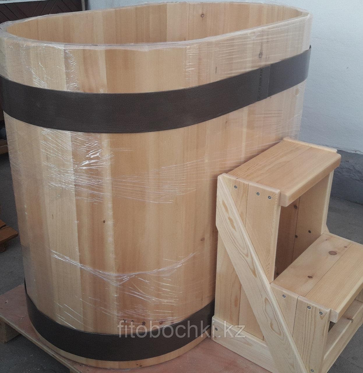 Купель кедровая овальная 1000(H)*700(B)*900(L) мм