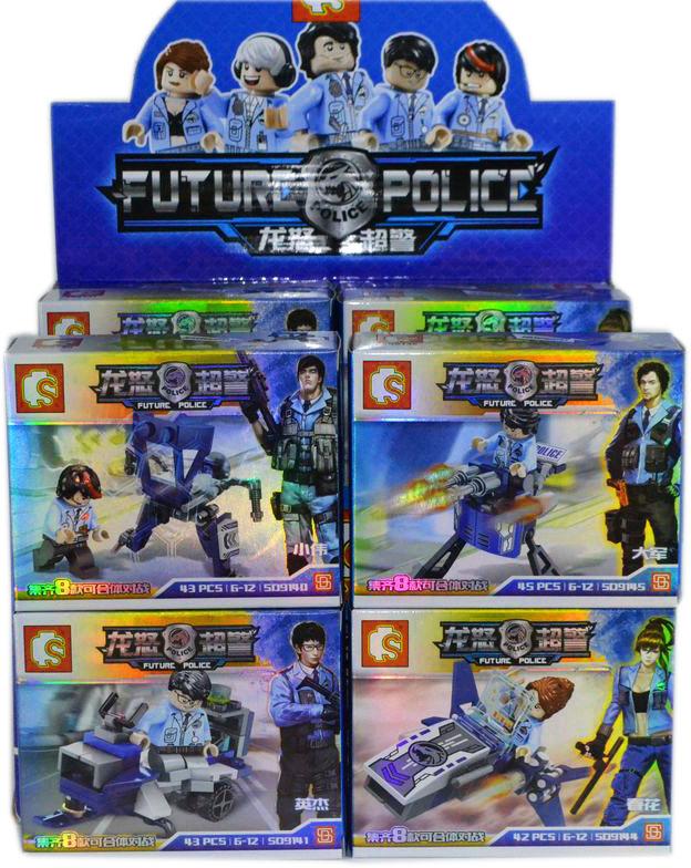 9140 Конст. Future Police Герой с машинами 8 видов из 16шт цена за 1шт 11*13