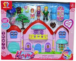 8092-1 Домик Семья с мебелью Deluxe Home 42*34см