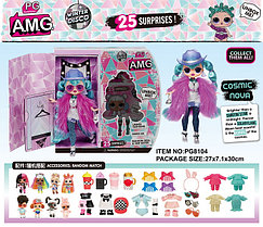 Pg8104 Bella Dolls (шляпа и фиол.шарф) LOL кукла Лол 25 сюрпризов 30*31см