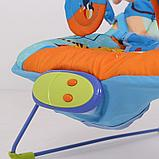 Детский шезлонг LA-DI-DA BR2A-B90035 синий, фото 4