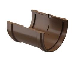 Соединитель желоба 120x80 мм DACHA Döcke (Дача Дёке) Коричневый