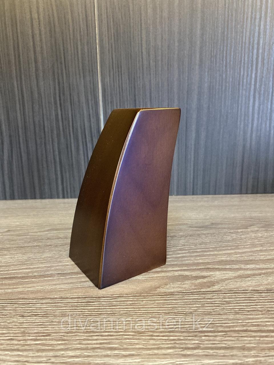 Ножка мебельная, деревянная с изгибом. 12 см