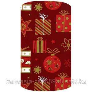 Non-branded Упаковочная бумага супергладкая, легкомелованная, Ёлочные игрушки и подарки, 70*150 см.