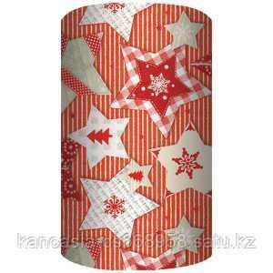 Non-branded Упаковочная бумага супергладкая, целлюлозная, повышенной плотности, Снежинки, 70*150 см.