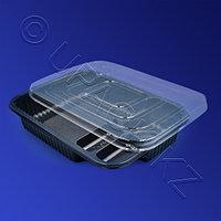 Россия Контейнер для суши 4-секц PS/PVC 21,0х15,2х4,0см с крышкой 500 штук в коробке