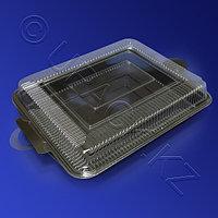 Россия Контейнер для суши большого сета PS/PVC 40,5х27,7х7,2см с крышкой 100 штук в коробке