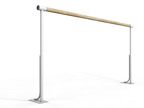 Балетный напольный однорядный станок 2м (жерди с металлическим стержнем)