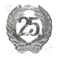 KOGLER Знак Юбилей 25 серебристый d40см 1шт/уп Kg