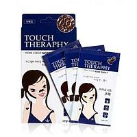 Welcos Очищающая маска-пленка Welcos Touch Therapy и пластыри от черных точек для носа