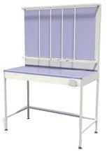 Стол титровальный, 3 штанги, 1 ящик, ц/м, 600х600х900 (1800) мм