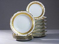 Набор тарелок 6 персон Лента матовая (Epiag Lofida, Чехия)