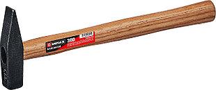 Молоток слесарный с деревянной рукояткой, Mirax 300 гр