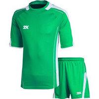 Комплект футбольной формы 2K Sport Viva, green/green/white, рост 146
