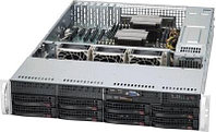 2U, 13.68''x13'', 8x3.5'' hot-swap SAS/SATA with SES2 + internal 2x3.5'', 7xLP, 437x89x648mm, redundant 740W P