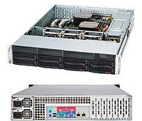 2U, 13.68''x13'', 8x3.5'' hot-swap SAS/SATA with SES2, 7xLP, 437x89x648mm, redundant 720W