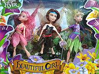 Набор фей с крыльями(аналог Winx), 3 куклы