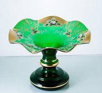 Фруктовница 36 см зеленая Talir (JN Glass, Чехия)