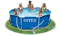 СборныйКаркасный бассейн с фильтром Intex Metal Frame Pool  305*76