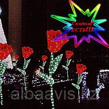 """Фигуры личные светящиеся светодиодные акриловые 3D  Цветок """"Тюльпан"""""""