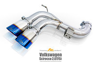 Выхлопная система Fi Exhaust на Volkswagen Scirocco 1.4 / 2.0 Tsi