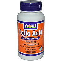 Фолиевая кислота NOW Folic Acid 800 mcg (250 таблеток)