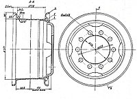 Диск колеса ЧМЗАП 83881-3101012, фото 1